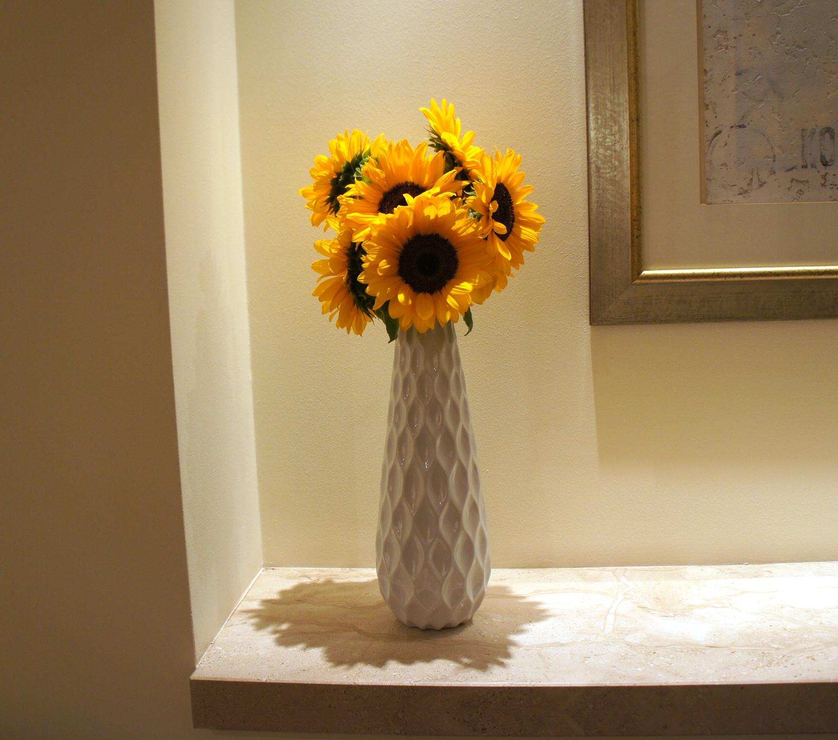 kwiaty do biura, słoneczniki